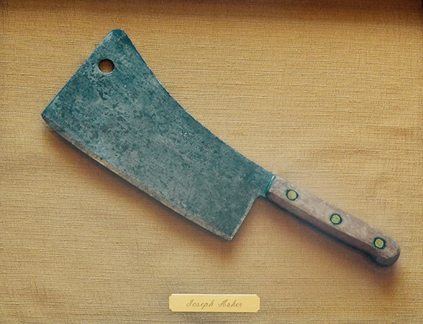 Sterling meat Cleaver Joseph Asher